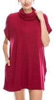 B-Sharp Collection Women's Tanboocel Bamboo Tunic Top Sleeveless Cowl Mock Neck With Pocket.