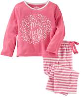 "Osh Kosh Oshkosh Bgosh Girls 4-14 Snow Days"" Top & Striped Bottoms Pajama Set"
