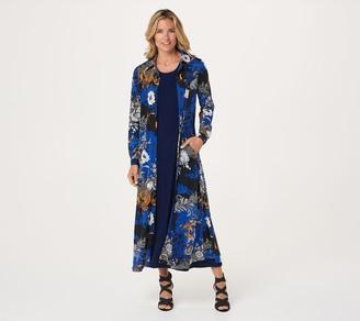 Women With Control Attitudes by Renee Petite Duster & Sleeveless Maxi Dress Set