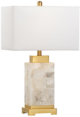 Chelsea House Park Place Alabaster Table Lamp - Natural/Brass