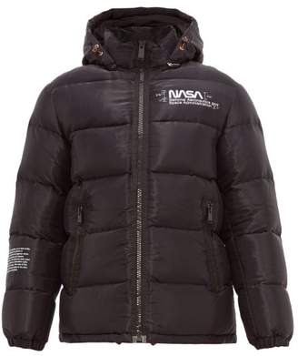 Heron Preston Nasa Print Down Filled Jacket - Mens - Black Multi