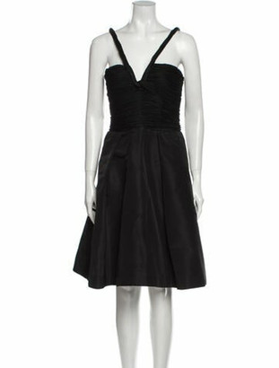 Oscar de la Renta 2007 Knee-Length Dress Black