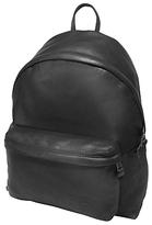 Eastpak Padded Pak'r Leather Backpack, Black