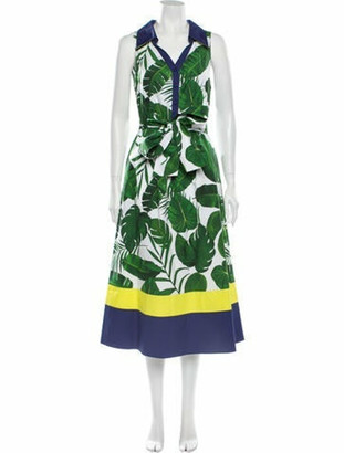 Alice + Olivia Printed Long Dress w/ Tags Green