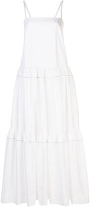 Rosetta Getty Tiered Ruffle Dress