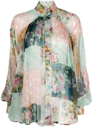 Zimmermann Patchwork Floral Print Shirt