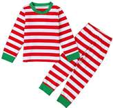 GSJammies Candy Cane Striped Christmas Pjs Sleepwear Set