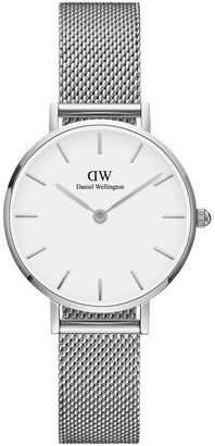 Daniel Wellington Petite Sterling 28mm Silver Watch