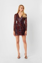 French Connection Inari Embellished Leopard Sequin Dress