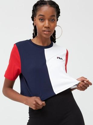 Fila Prudence Cut And Sew Crop T-Shirt - Multi