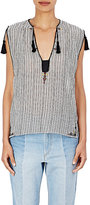 Etoile Isabel Marant Women's Judith Embellished Top-WHITE, BLACK, NUDE