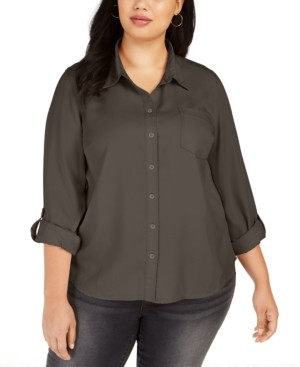 Style&Co. Style & Co Plus Size Button-Down Shirt, Created for Macy's