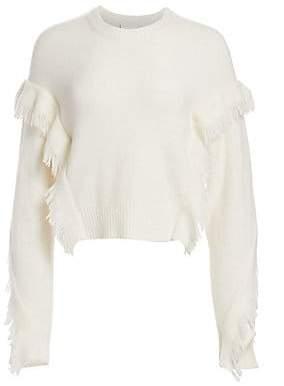 3.1 Phillip Lim Women's Fringe-Trim Crewneck Sweater