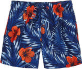 Sundek Kids' Hibiscus-Print Swim Trunks