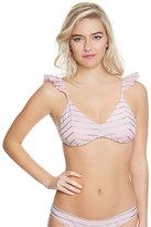 Betsey Johnson Shimmer Stripes Bralette Top