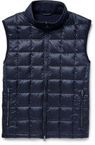 Hackett - Panelled Quilted Shell And Wool Down Gilet