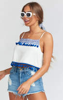 MUMU Nellie Tank ~ Casablanca Blues Embroidery