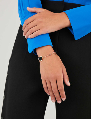 Chopard Happy Hearts 18ct rose-gold, onyx and diamond bracelet