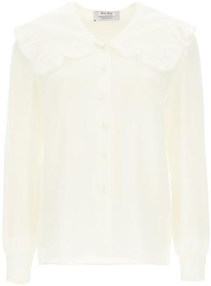 Miu Miu Silk Shirt With Over Collar