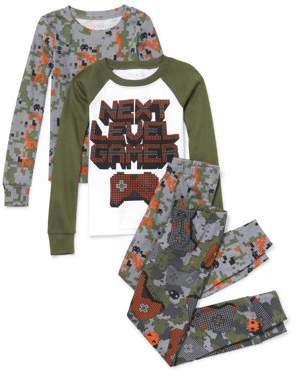 Children's Place The Long sleeve 'next level gamer' camo printed 4 piece pajama set (little boy & big boy)