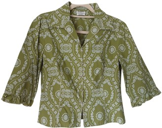 Philosophy di Alberta Ferretti Green Cotton Top for Women