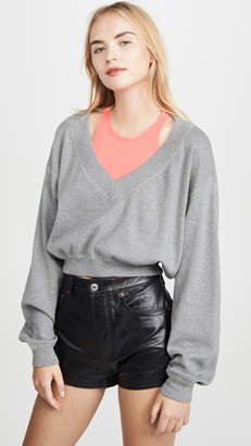 Alexander Wang Bi-Layer Sweater Top