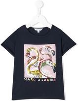 Little Marc Jacobs sequinned flamingo T-shirt