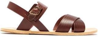 Ancient Greek Sandals Socrates Leather Sandals - Mens - Brown