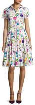 Samantha Sung Avery Short-Sleeve Floral-Print Shirtdress