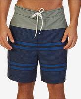 "Nautica Men's Quick-Dry Engineered Stripe 9"" Swim Trunks"