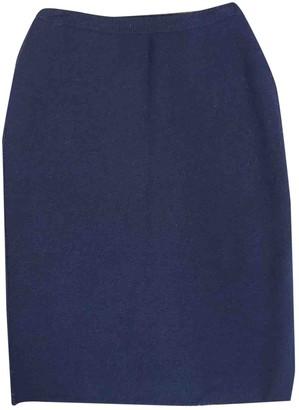 Sonia Rykiel Navy Wool Skirt for Women