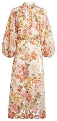 Zimmermann Longline Floral Embroidered Bonita Dress