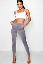 boohoo Carmilla Scuba Skinny Stretch Trousers