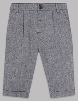 Autograph Pure Cotton Textured Trousers