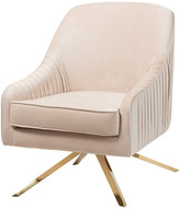 Baxton Studio Luxe and Glamour Fabric Upholstered Lounge Chair