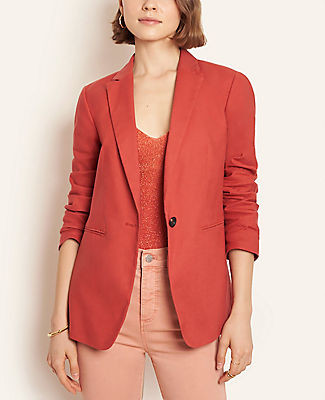 Ann Taylor The Hutton Blazer in Linen Cotton