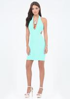 Bebe Cutout Deep V Dress