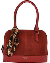 Tignanello Water Resistant Suede Leather RFID Dome Satchel