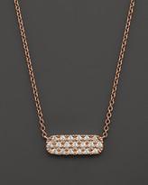 Bloomingdale's Small Diamond Bar Pendant in 14K Rose Gold, .12 ct. t.w.