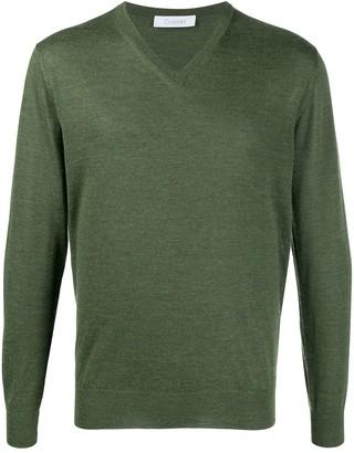 Cruciani long-sleeve V-neck jumper