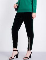 Sandro High-rise straight-leg velvet trousers