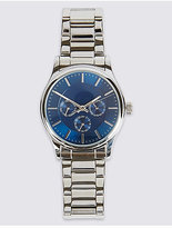 M&S Collection Stainless Steel Round Face Watch