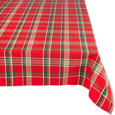 DESIGN IMPORTS Tango Red Plaid Tablecloth