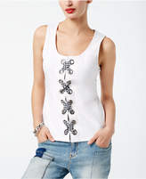 INC International Concepts Lace-Up Tank Top, Created for Macy's