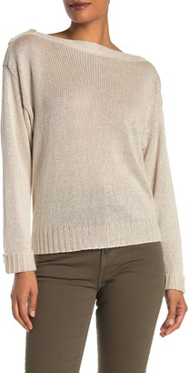 Joie Burrell Button Shoulder Pullover Sweater