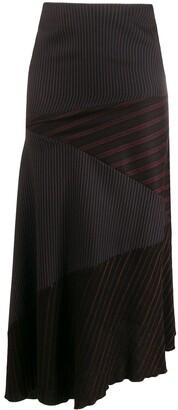 1990s Asymmetric Striped Skirt