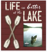Malden® 8-Inch x 10-Inch Life is Better at the Lake Wood Frame in Red