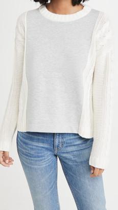 Splendid Mixed Media Sweater