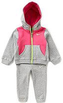 Nike Baby Girls 12-24 Months Core Fleece Color Block Jacket & Solid Jogger Pant Set