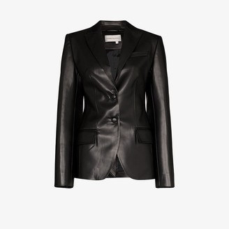ALEKSANDRE AKHALKATSISHVILI Tailored Leather Blazer